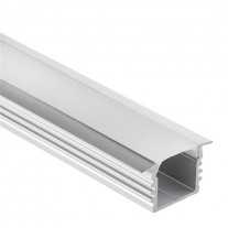 Profilo PL3 Glanfar in alluminio per Strisce LED 1m/2m + Copertura Opale/Trasparente
