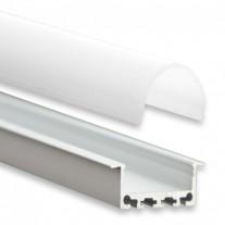 PN5  Heka C4 Profilo Alluminio 2m + Copertura Opale