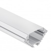 Profilo PL11 Theemin in alluminio per Strisce LED 1m/2m  + Copertura opale