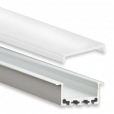 PN5 Bunda C1 Profilo Alluminio 2m + Copertura Opale