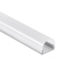 Profilo PN16 Unuk  in alluminio per Strisce LED 2m  + Copertura opale