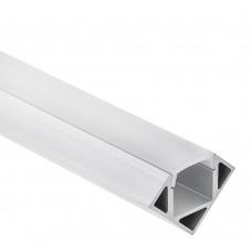 Profilo P23 Pollux in alluminio per Strisce LED 1m/2m + Copertura Opale/Trasparente