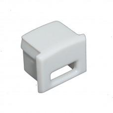 Tappo laterale terminale  per Profili PL2 Arrakis - Con  foro per cavo
