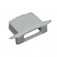 Tappo laterale terminale  per Profili PL8 Subra - Con foro per cavo
