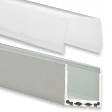 PN6 Chort C2 Profilo Alluminio 2m + Copertura Opale
