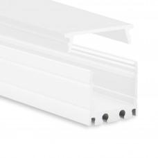 P8 Kocab Aluminium Profil inkl. Abdeckung Opal Weiß Pulverbeschichtet