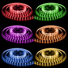 LED Striscia 5 metri RGB Multicolore 36W 150 LED  Bobina 24V IP68 Aqua