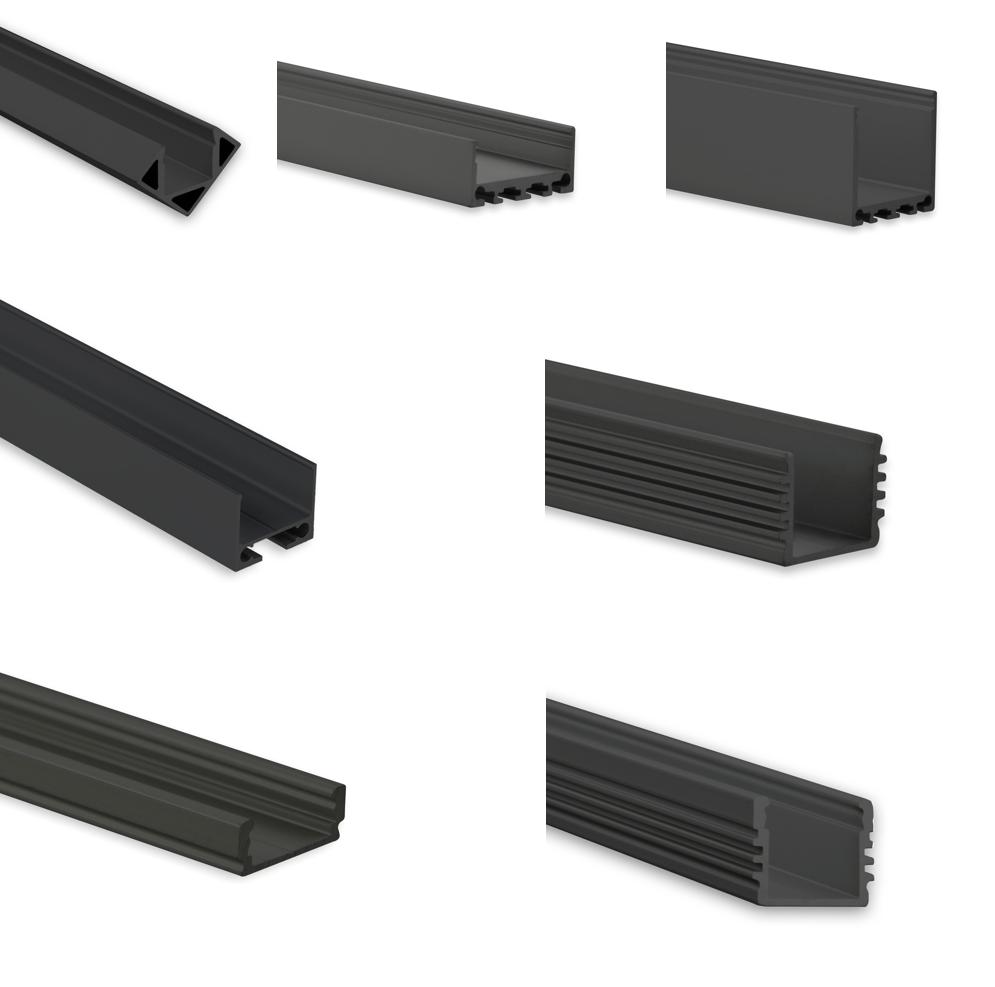 Schwarze LED Profile